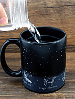 cheap -Drinkware Porcelain Mug Heat Sensitive Color-changing Cartoon Cute 1pcs