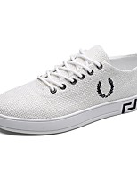 cheap -Men's Shoes Fabric Spring Comfort Sneakers White / Black / Beige