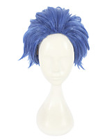 cheap -Synthetic Wig Straight Layered Haircut Synthetic Hair Cosplay Blue Wig Women's Short Capless / Yes