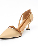 cheap -Women's Shoes Fabric Spring Basic Pump Heels Stiletto Heel Pointed Toe Beige / Yellow