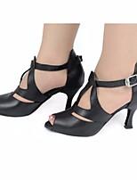 cheap -Women's Latin Shoes PU Heel Performance / Practice Stiletto Heel Dance Shoes Gold / Black / Leopard