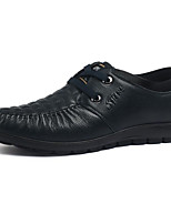 cheap -Men's Shoes Cowhide / Nappa Leather Fall Comfort Oxfords Black / Blue