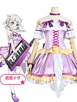 economico -Ispirato da BanG Dream Cosplay Anime Costumi Cosplay Abiti Cosplay Altro Manica corta Top / Gonna / Calze Per Unisex