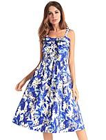 cheap -TS - Dreamy Land Women's Basic A Line Dress - Floral