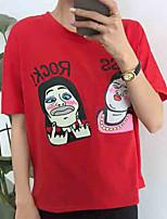 economico -t-shirt da donna - girocollo a lettera verticale