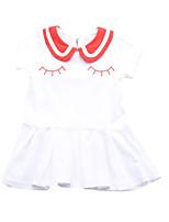 cheap -Toddler Girls' Geometric / Patchwork Short Sleeve Dress
