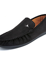 cheap -Men's Shoes Flocking Fall Moccasin Comfort Loafers & Slip-Ons for Outdoor Black Gray Khaki