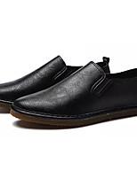 Недорогие -Муж. обувь Искусственное волокно Полиуретан Дерматин Лето Удобная обувь Мокасины и Свитер для на открытом воздухе Черный Серый Коричневый
