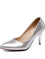 cheap -Women's Shoes Leatherette Spring & Summer Basic Pump Heels Stiletto Heel Pointed Toe Silver / Fuchsia / Blue / Party & Evening