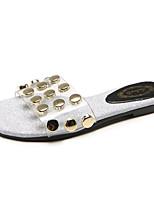 cheap -Women's Shoes PU(Polyurethane) Summer Comfort Slippers & Flip-Flops Flat Heel Gold / Silver