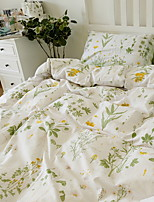 cheap -Duvet Cover Sets Floral Poly / Cotton Reactive Print 3 Piece