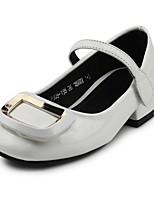 Недорогие -Девочки Обувь Дерматин Весна & осень Удобная обувь / Детская праздничная обувь Обувь на каблуках На крючках для Дети Белый / Черный /