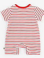 cheap -Baby Unisex Basic Striped Short Sleeves Cotton Romper