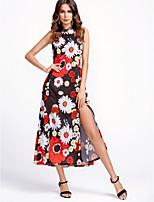cheap -Dreamy Land Women's Swing Dress Maxi Halter Neck