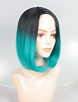cheap -Synthetic Wig / Ombre / Highlighted Hair Straight Bob Haircut Synthetic Hair Fashionable Design / Soft / Sexy Lady Ombre Wig Women's Short