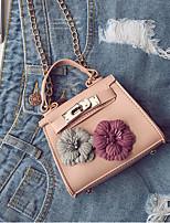 cheap -Women's Bags PU Leather Shoulder Bag Flower Brown / Sky Blue / Khaki