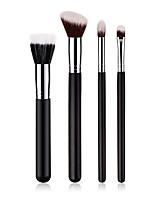 cheap -4-Pack Makeup Brushes Professional Makeup Brush Set Nylon fiber Eco-friendly / Soft Wooden / Bamboo