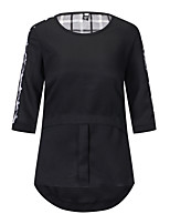 cheap -Women's Basic / Street chic Blouse - Check Cut Out