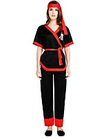 cheap -Ninja Outfits Unisex Halloween / Carnival / Day of the Dead Festival / Holiday Halloween Costumes Black Solid Colored / Halloween