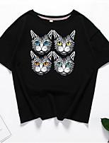 Недорогие -женская футболка - шея для животных