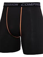 abordables -Homme Shorts Moulants de Course - noir / vert, Noir / Orange. Des sports camouflage, Lettre et chiffre Spandex Cuissard  / Short Tenues