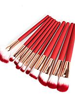 economico -Pacco da 10 Pennelli per il trucco Professionale Set di pennelli Fibra di nilon Ecologico / Soffice Plastica