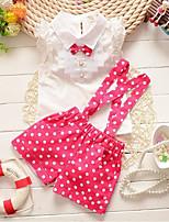 cheap -Kids Toddler Girls' Polka Dot Sleeveless Clothing Set