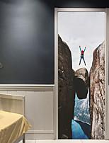 Недорогие -Декоративные наклейки на стены / Дверные наклейки - Простые наклейки / Праздник стены стикеры Геометрия / 3D Гостиная / Спальня