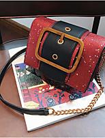 cheap -Women's Bags PU(Polyurethane) Shoulder Bag Buttons Silver / Red / Coffee