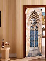 abordables -Autocollants muraux décoratifs / Autocollants de porte - Autocollants avion / Location Stickers muraux Forme / 3D Salle de séjour /