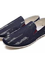 Недорогие -Муж. обувь Ткань Весна Лето Удобная обувь Мокасины и Свитер для на открытом воздухе Черный Синий