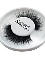abordables -Œil 1 Naturel / Bouclé / Portable Maquillage Smoky-Eye / Maquillage Œil de Chat / Maquillage de Fée Cils Entiers / Epais Maquillage