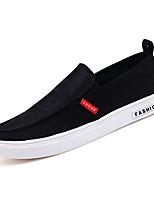 Недорогие -Муж. обувь Ткань Осень Мокасины Удобная обувь Мокасины и Свитер для на открытом воздухе Черный Красный