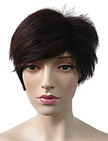 cheap -Synthetic Wig / Cosplay & Costume Wigs Straight Layered Haircut Synthetic Hair Heat Resistant / Women / Synthetic Red Wig Women's Short Capless / Doll Wig / Natural Hairline