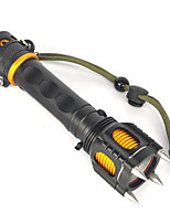 cheap -LED Flashlights / Torch / Handheld Flashlights / Torch LED 2500lm 1 Mode Professional / Anti-Shock / Wearproof Camping / Hiking / Caving