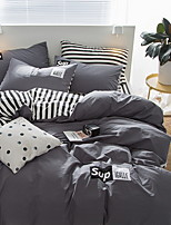 cheap -Duvet Cover Sets Stripes / Ripples 100% Cotton Reactive Print 3 Piece