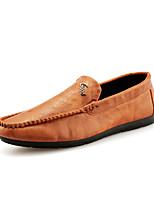 Недорогие -Муж. обувь Полиуретан Лето Мокасины Мокасины и Свитер для на открытом воздухе Черный Коричневый Синий