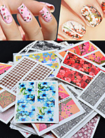 cheap -50pcs Stickers & Tapes Nail Sticker Nail Stamping Template Stickers Nail Decals Stickers