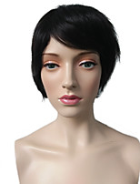cheap -Synthetic Wig Straight Layered Haircut Synthetic Hair Heat Resistant / Classic / Synthetic Black Wig Women's Short Capless