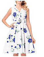 cheap -TS - Dreamy Land Women's Basic A Line Dress - Floral Print