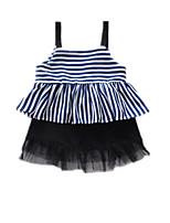 cheap -Kids Girls' Active Striped Sleeveless Dress
