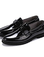 cheap -Men's Shoes Leather Fall Comfort Loafers & Slip-Ons Black