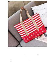 cheap -Women's Bags Canvas Tote Zipper for Event / Party / Outdoor Blue / Black / Red
