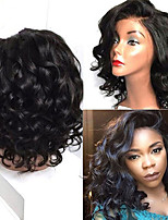 cheap -Remy Human Hair Wig Brazilian Hair Curly 150% Density 100% Virgin Short 8-14cm Women's Human Hair Lace Wig