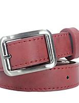 cheap -Women's Basic Leather / Alloy Skinny Belt