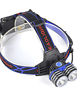cheap -Headlamps LED 5000lm 1 Mode Professional / Wearproof / Lightweight Camping / Hiking / Caving / Everyday Use / Hunting Blue