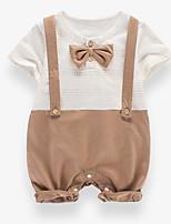cheap -Baby Unisex Patchwork Short sleeves Romper