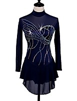 cheap -Figure Skating Dress Women's Ice Skating Dress Dark Navy Skating Wear Quick Dry, Anatomic Design Classic / Sexy Long Sleeve Ice Skating /