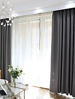 economico -Blackout tende tende Camera da letto Tinta unita Miscela di poliestere Filo di cotone