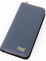 cheap -Men's Bags PU(Polyurethane) Wallet Zipper Blue / Black